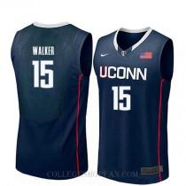 Kemba Walker Uconn Huskies #15 Authentic College Basketball Mens Jersey Navy