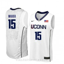 Kemba Walker Uconn Huskies #15 Authentic College Basketball Mens Jersey White