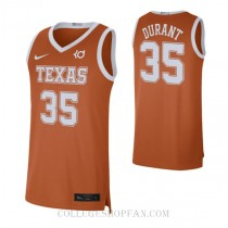 Kevin Durant Texas Longhorns #35 Authentic College Basketball Mens Jersey Orange