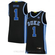 Kyrie Irving Duke Blue Devils #1 Authentic College Basketball Mens Jersey Black
