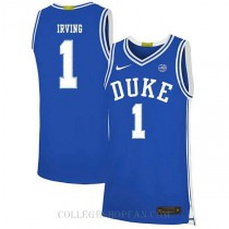 Kyrie Irving Duke Blue Devils #1 Authentic College Basketball Mens Jersey Blue