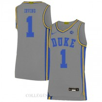 Kyrie Irving Duke Blue Devils #1 Authentic College Basketball Mens Jersey Grey