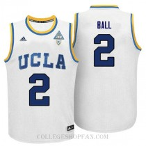 Lonzo Ball Ucla Bruins #2 Authentic Adidas College Basketball Mens Jersey White