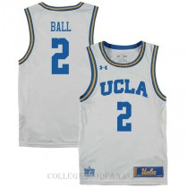 Lonzo Ball Ucla Bruins #2 Authentic College Basketball Mens Jersey White