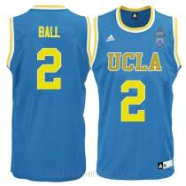 Lonzo Ball Ucla Bruins #2 Swingman Adidas College Basketball Mens Jersey Blue