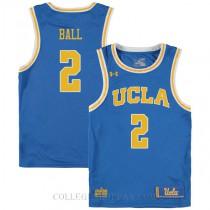 Lonzo Ball Ucla Bruins #2 Swingman College Basketball Youth Jersey Blue