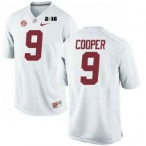 Mens Amari Cooper Alabama Crimson Tide Authentic 2016th Championship White College Football Jersey 102