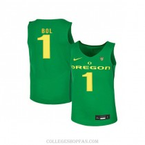 Mens Bol Bol Oregon Ducks #1 Authentic Green Alternate College Basketball Jersey