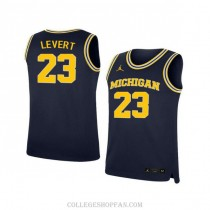 Mens Caris Levert Michigan Wolverines #23 Authentic Navy College Basketball Jersey