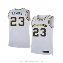 Mens Caris Levert Michigan Wolverines #23 Limited White College Basketball Jersey