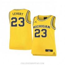 Mens Caris Levert Michigan Wolverines #23 Swingman Yellow College Basketball Jersey