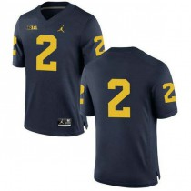 Mens Charles Woodson Michigan Wolverines #2 Authentic Navy College Football Jersey No Name 102