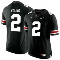 Mens Chase Young Ohio State Buckeyes #2 Authentic Black College Football Jersey 102