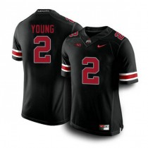 Mens Chase Young Ohio State Buckeyes #2 Authentic Blackout College Football Jersey 102
