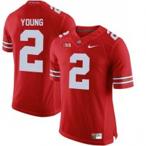 Mens Chase Young Ohio State Buckeyes #2 Authentic Red College Football Jersey 102
