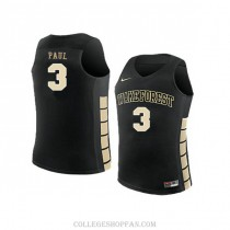 Mens Chris Paul Wake Forest Demon Deacons #23 Authentic Black College Basketball Jersey