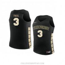 Mens Chris Paul Wake Forest Demon Deacons #23 Swingman Black College Basketball Jersey