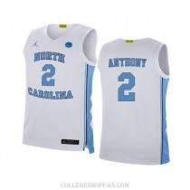 Mens Cole Anthony North Carolina Tar Heels #2 Authentic White College Basketball Unc Jersey