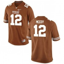 Mens Colt Mccoy Texas Longhorns #12 Authentic Orange Colleage Football Jersey 102