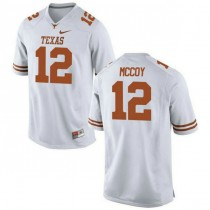 Mens Colt Mccoy Texas Longhorns #12 Authentic White Colleage Football Jersey 102