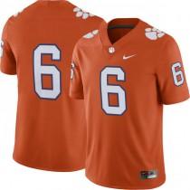 Mens Deandre Hopkins Clemson Tigers #6 Authentic Orange Colleage Football Jersey No Name 102
