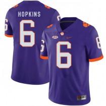 Mens Deandre Hopkins Clemson Tigers #6 Authentic Purple Colleage Football Jersey 102