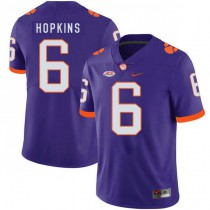 Mens Deandre Hopkins Clemson Tigers #6 Game Purple Colleage Football Jersey 102