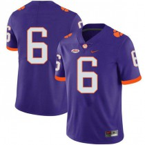 Mens Deandre Hopkins Clemson Tigers #6 Game Purple Colleage Football Jersey No Name 102