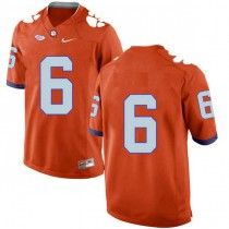 Mens Deandre Hopkins Clemson Tigers #6 New Style Authentic Orange Colleage Football Jersey No Name 102
