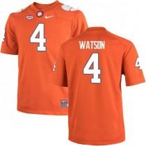 Mens Deshaun Watson Clemson Tigers #4 Authentic Orange Colleage Football Jersey 102