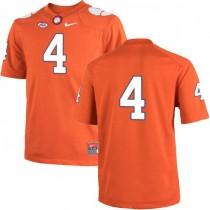 Mens Deshaun Watson Clemson Tigers #4 Authentic Orange Colleage Football Jersey No Name 102
