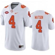 Mens Deshaun Watson Clemson Tigers #4 Authentic White Colleage Football Jersey 102