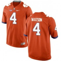 Mens Deshaun Watson Clemson Tigers #4 New Style Authentic Orange Colleage Football Jersey 102