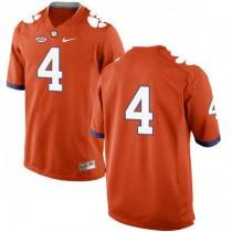 Mens Deshaun Watson Clemson Tigers #4 New Style Game Orange Colleage Football Jersey No Name 102
