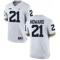 Mens Desmond Howard Michigan Wolverines #21 Game White College Football Jersey 102