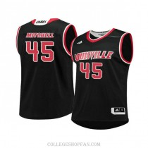 Mens Donovan Mitchell Louisville Cardinals #45 Authentic Black College Basketball Jersey