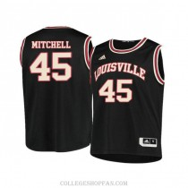 Mens Donovan Mitchell Louisville Cardinals #45 Authentic Black Retro College Basketball Jersey