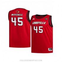 Mens Donovan Mitchell Louisville Cardinals #45 Swingman Red Retro College Basketball Jersey