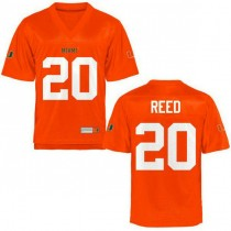 Mens Ed Reed Miami Hurricanes #20 Authentic Orange College Football Jersey 102