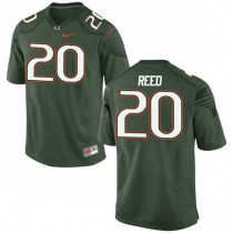 Mens Ed Reed Miami Hurricanes #20 Game Green College Football Jersey 102