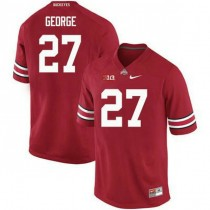 Mens Eddie George Ohio State Buckeyes #27 Authentic Red College Football Jersey 102