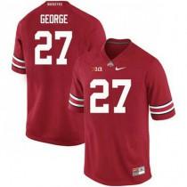 Mens Eddie George Ohio State Buckeyes #27 Game Red College Football Jersey 102