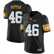 Mens George Kittle Iowa Hawkeyes #46 Authentic Black Alternate College Football Jersey 102