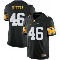 Mens George Kittle Iowa Hawkeyes #46 Game Black Alternate College Football Jersey 102