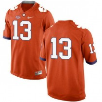 Mens Hunter Renfrow Clemson Tigers #13 New Style Game Orange Colleage Football Jersey No Name 102