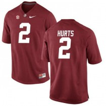 Mens Jalen Hurts Alabama Crimson Tide #2 Authentic Red Colleage Football Jersey 102