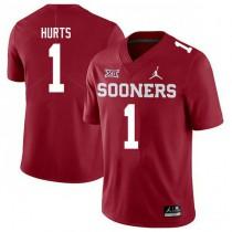 Mens Jalen Hurts Oklahoma Sooners #1 Jordan Brand Authentic Red College Football Jersey 102