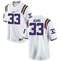 Mens Jamal Adams Lsu Tigers #33 Authentic White College Football Jersey 102