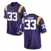 Mens Jamal Adams Lsu Tigers #33 Game Purple College Football Jersey 102