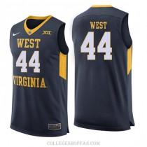 Mens Jerry West West Virginia Mountaineers #44 Swingman Navy College Basketball Jersey